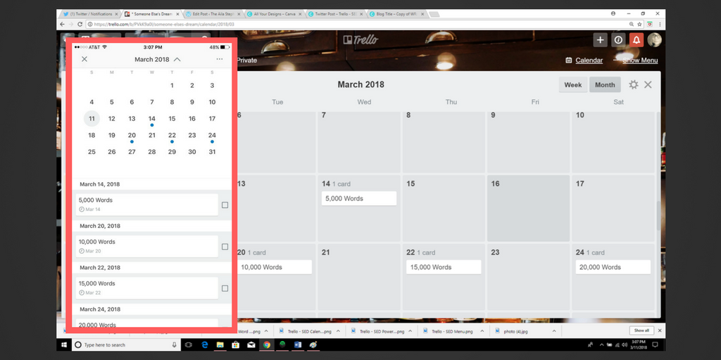 Trello - SED Calendar with Due Dates