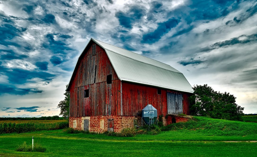 agriculture-barn-clouds-248832
